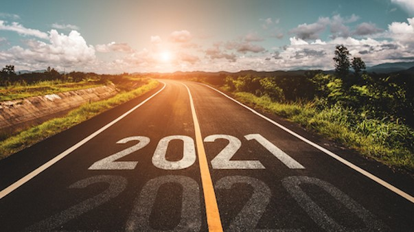 road showing move from 2020 to 2021
