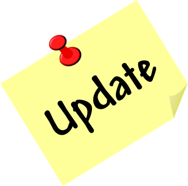 Image of a post it note with the word update